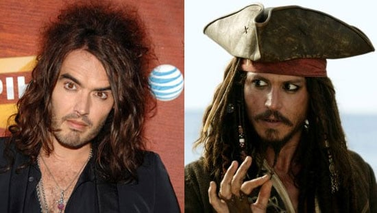 Poll On Whether Russell Brand Should Play Johnny Depp's Younger Brother In Pirates Of The Caribbean 4