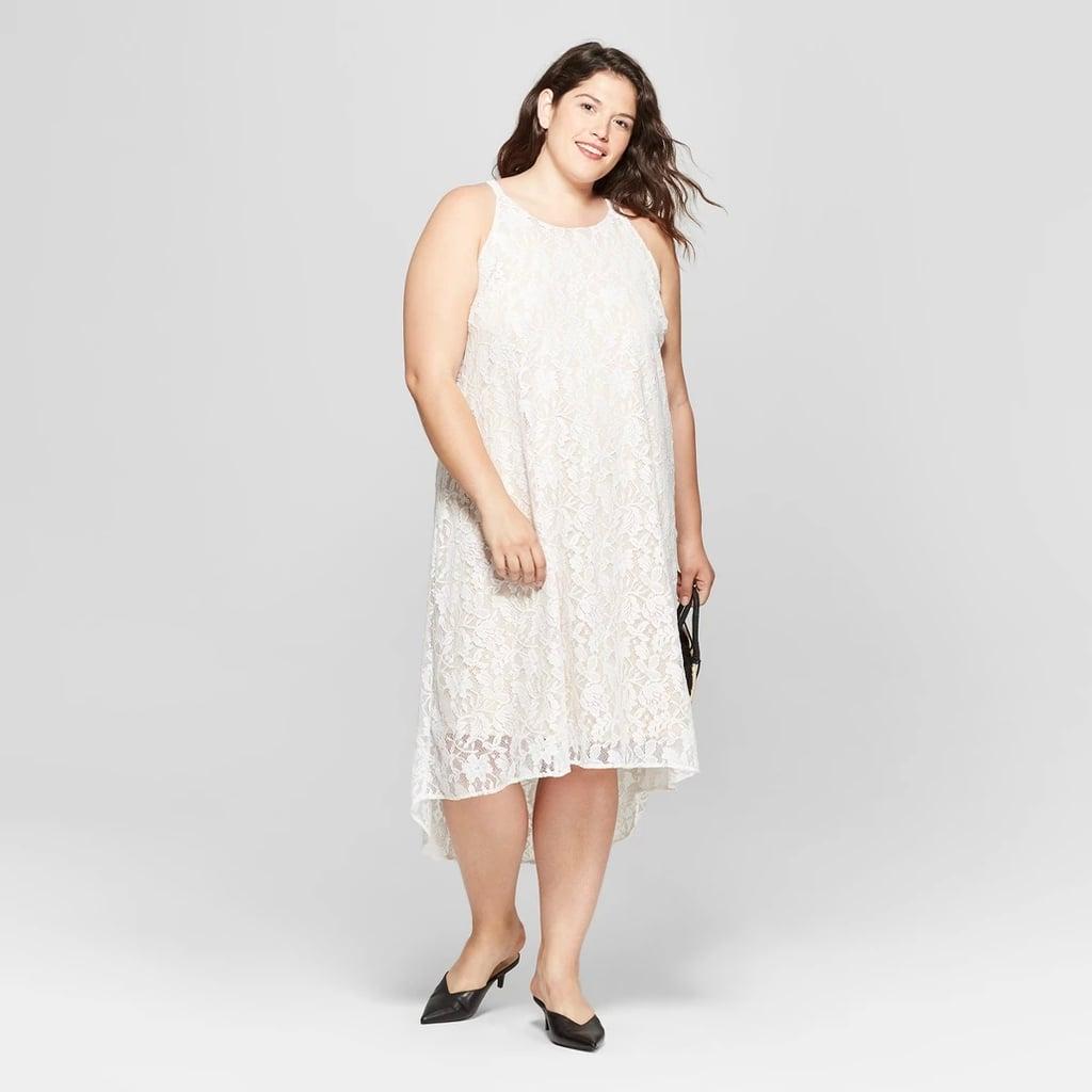 Ava & Viv Plus Size High-Low Lace Midi Dress | Jennifer Lopez\'s ...