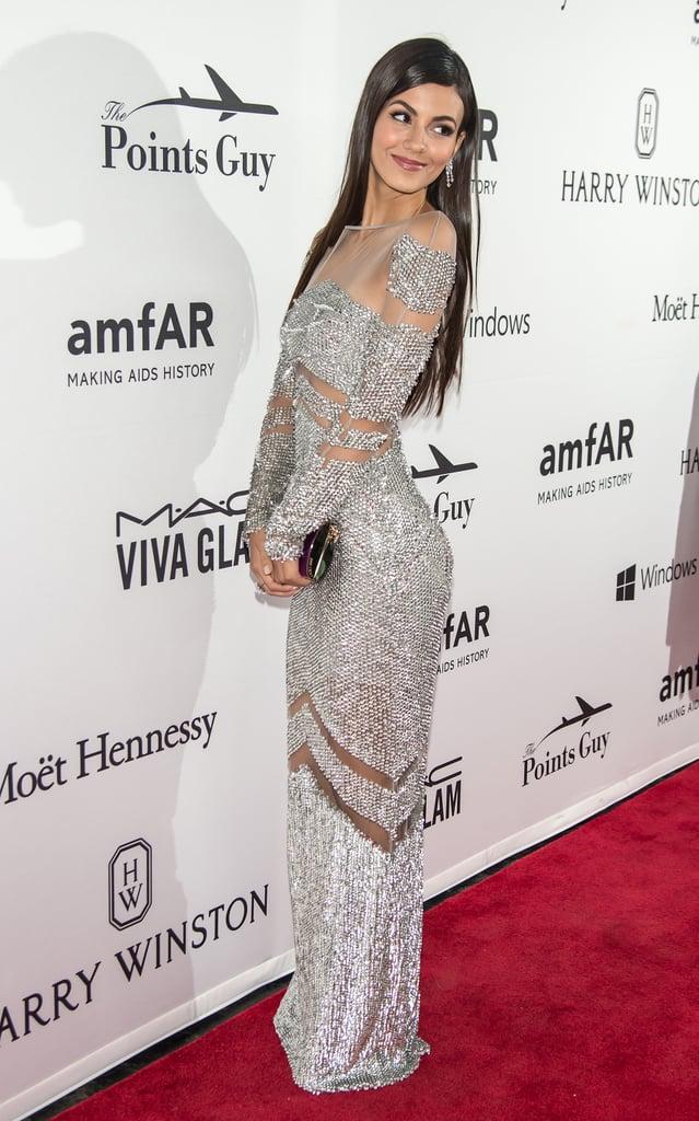 Victoria Justice at the amfAR Inspiration Gala 2016