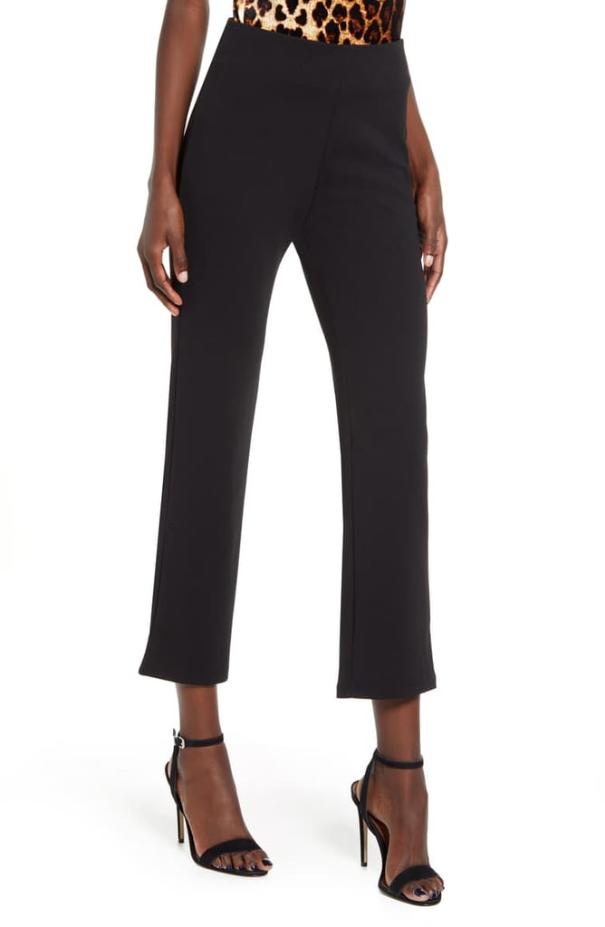 Leith High Waist Slim Pants in Black