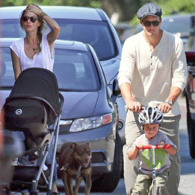 Tom Brady and Gisele Bundchen With Kids at the Park