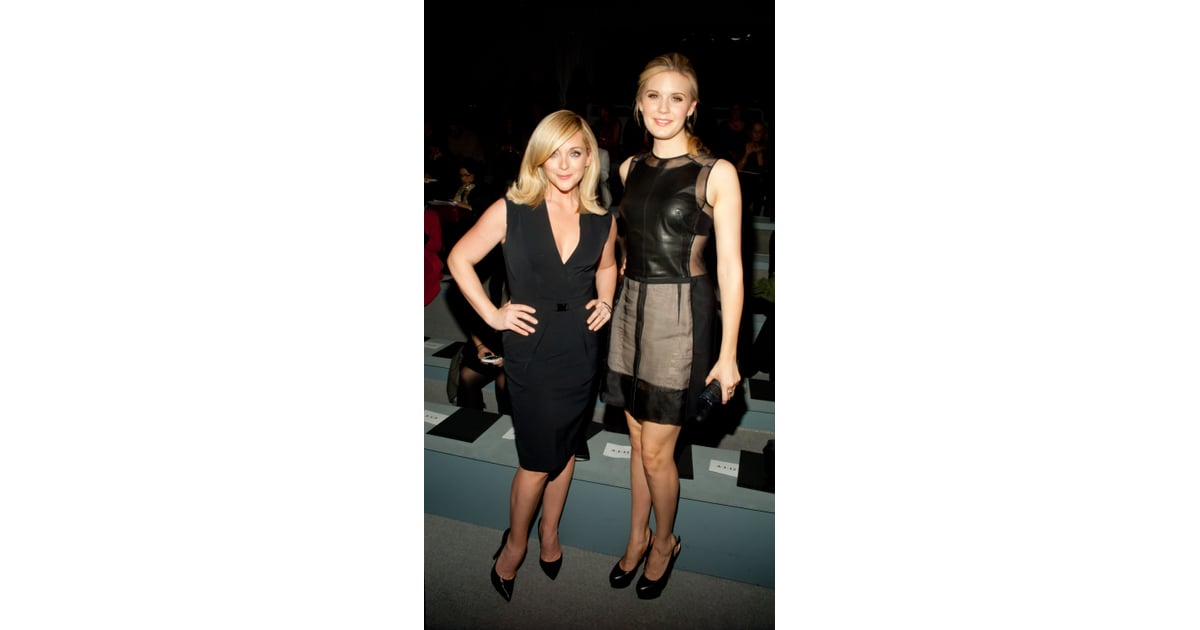 At The Kaufman Franco Show Jane Krakowski And Maggie Grace Put Their Celebrity Front Row