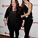 Melissa McCarthy and Sandra Bullock smiled at CinemaCon in Las Vegas.