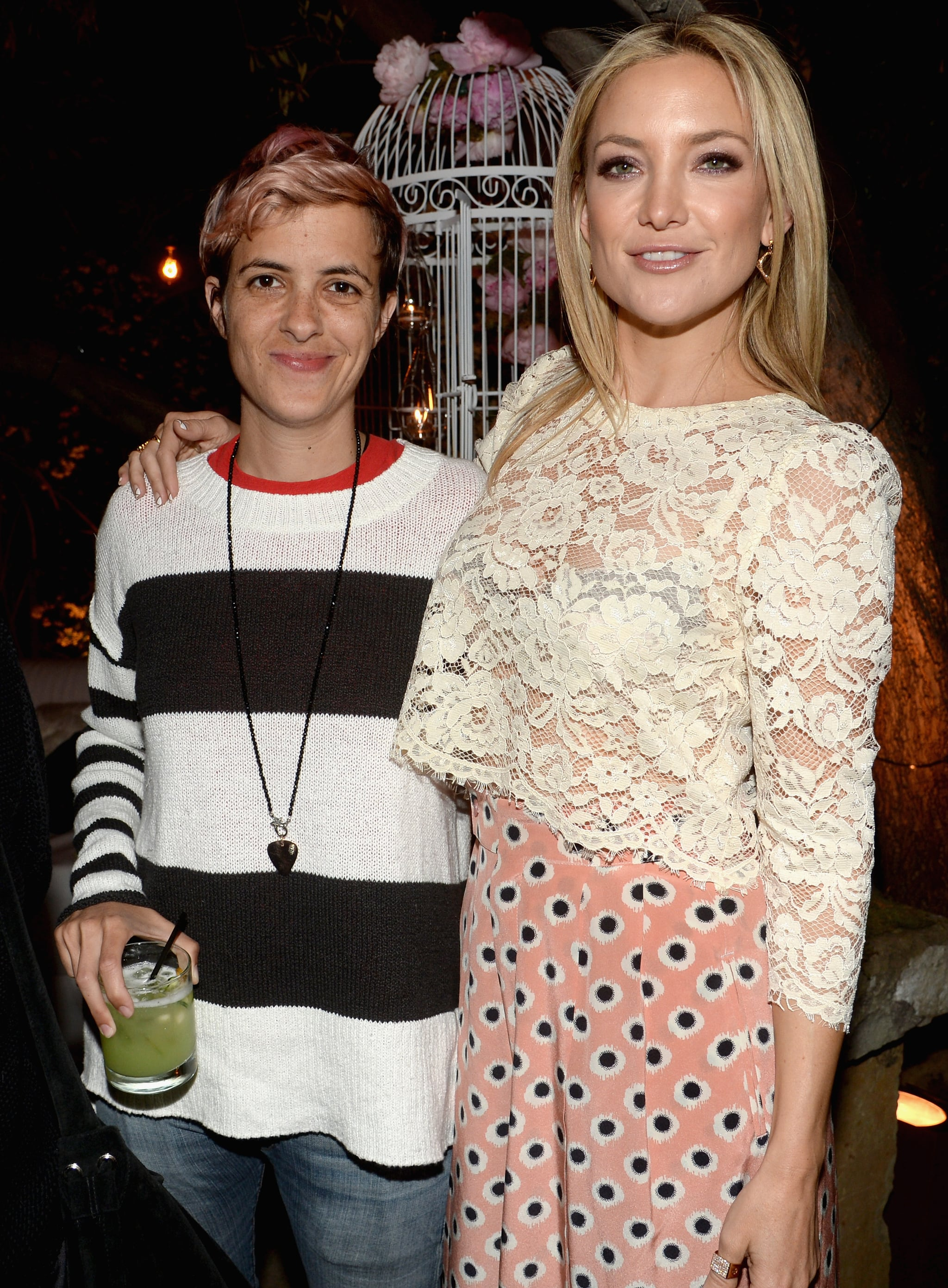 Kate hung out with Samantha Ronson.