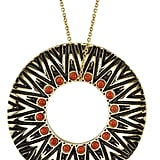House of Harlow 1960 Tribal Gold Circle Pendant ($128)