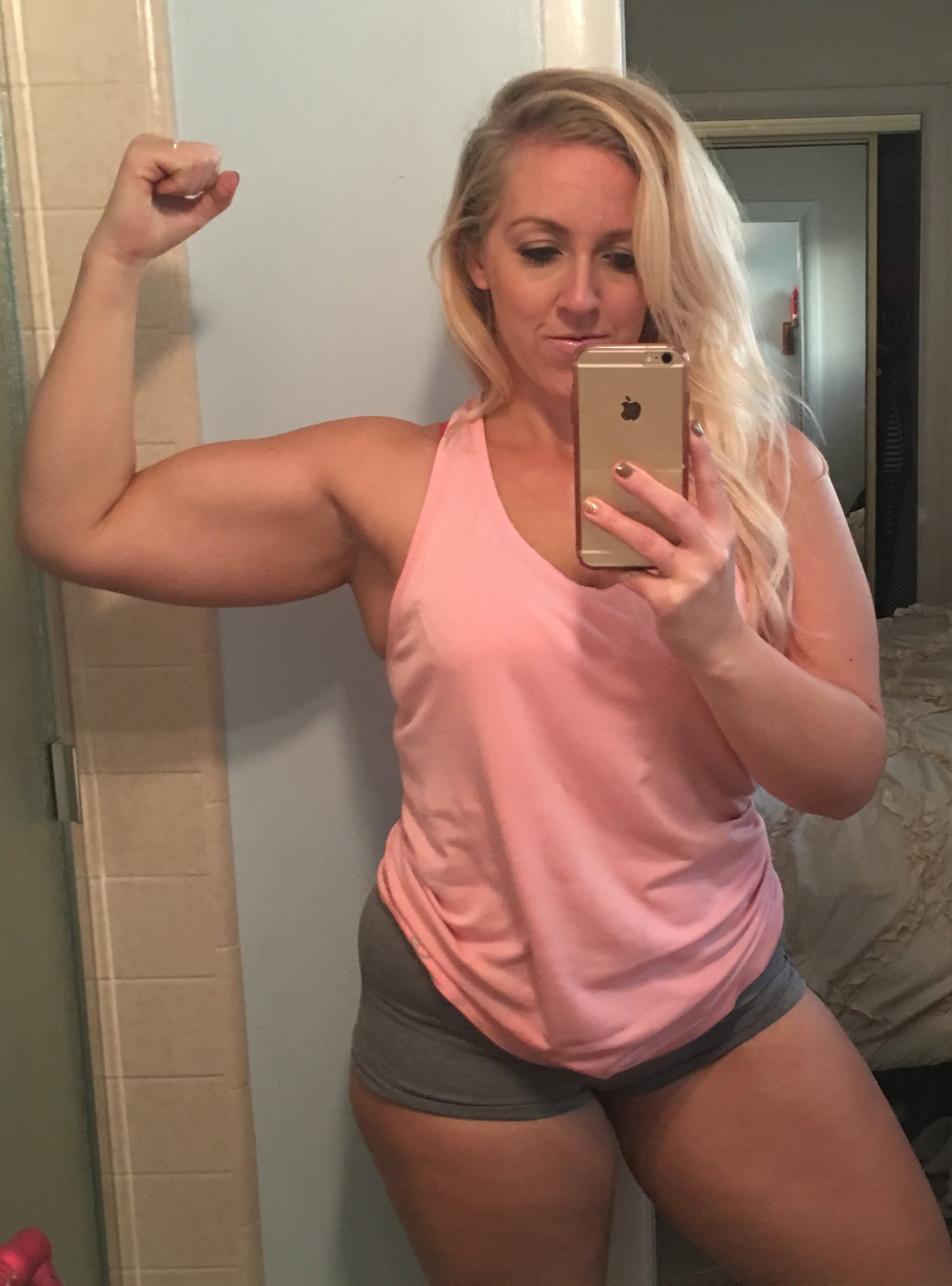 """Adrienne's Dramatic Before And After Is A Total """"Eff You"""" To The Scale"""