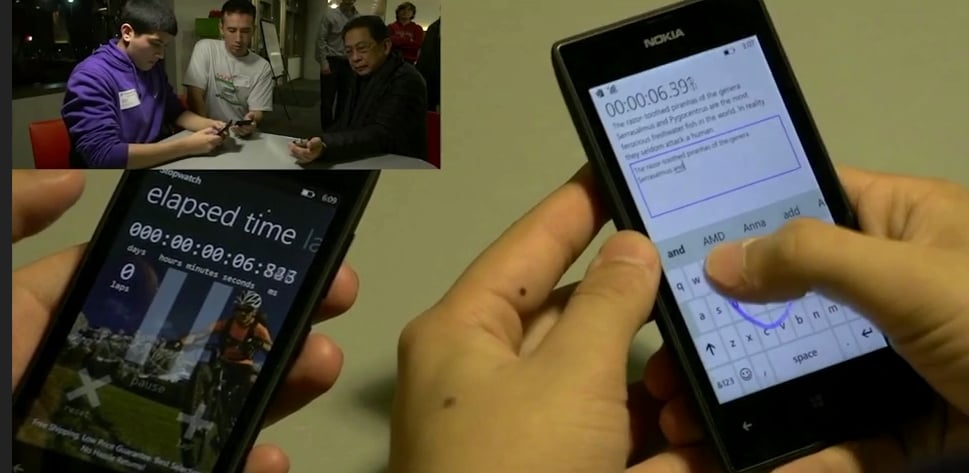 Windows Phone's new swiping input claims the Guinness World Record.