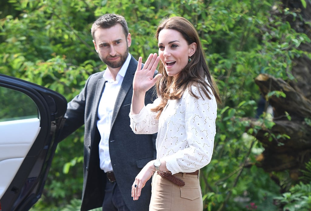 Kate Middleton Wears Wide-Leg Pants at Chelsea Flower Show
