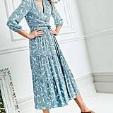 Boden Aurora Wrap Midi Dress