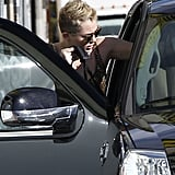 Miley Cyrus hopped into the car with Liam Hemsworth in LA.