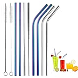 Ten-Piece Drinking Straws With Two Cleaning Brushes