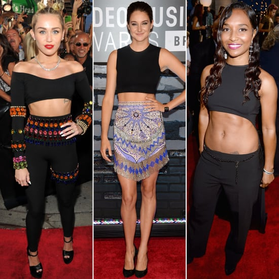 Shailene Woodley Crop Top at VMAs 2013 | Pictures
