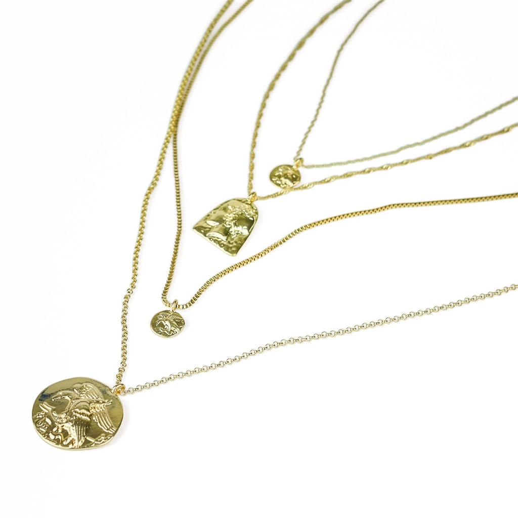 Milk Money Amelia 4 Piece Gold Coin Necklace Set