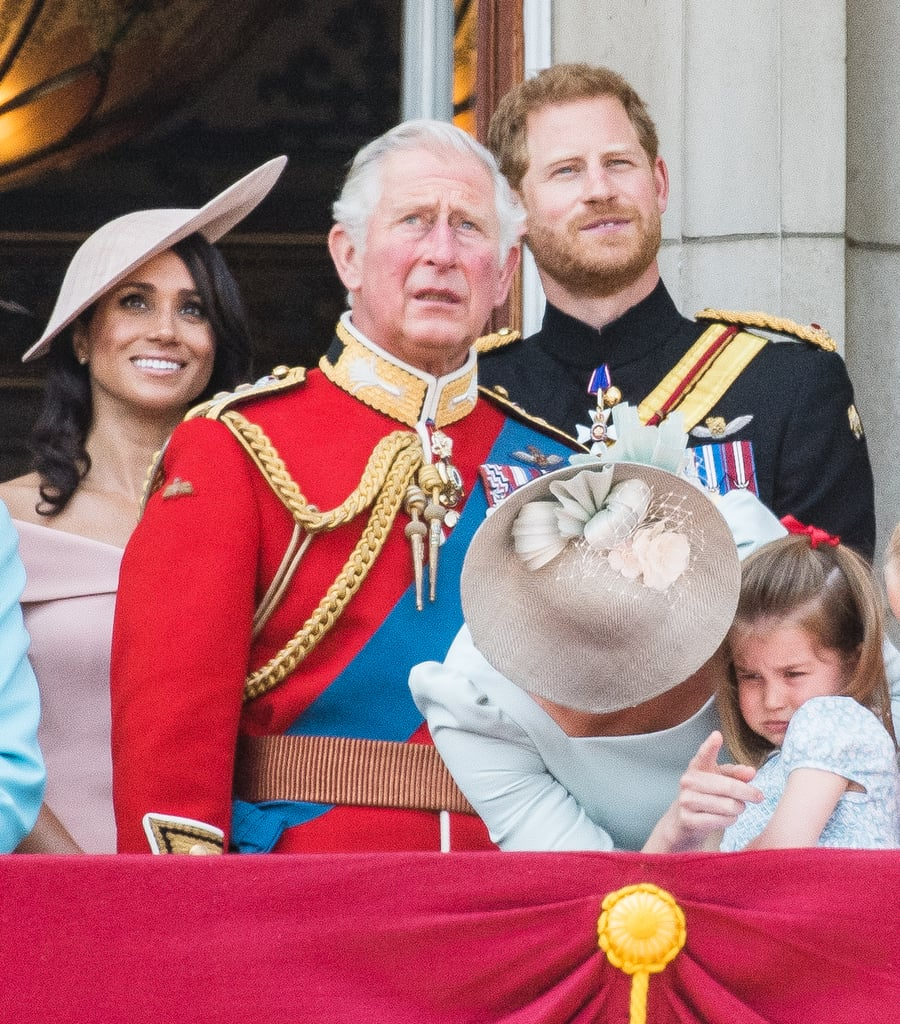 Prince Harry and Meghan Markle at Trooping the Colour 2018