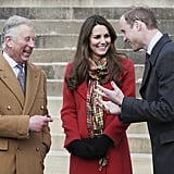 Kate Middleton and Prince William chatted with Prince Charles.
