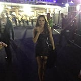 "Victoria Beckham confessed to feeling ""overwhelmed"" following the closing ceremony performance.  Source: Twitter user victoriabeckham"