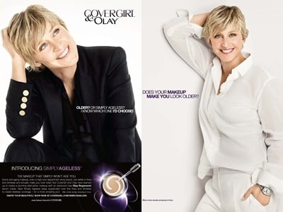 Ellen DeGeneres for Cover Girl