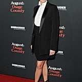 Julia's Givenchy menswear inspired look was complete with strappy sandals from the brand at the August: Osage County LA premiere in 2013.
