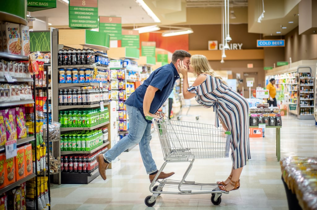 This Couple Took Sweet Engagement Photos at Publix — Yes, Where Shopping Is a Pleasure
