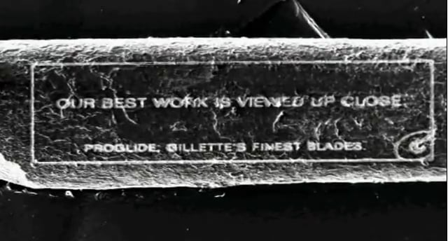 Gillette Uses an Electron Microscope to Write an Ad on a Single Human Hair