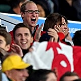 You could feel Will and Kate's excitement as they watched the Rugby World Cup in September 2015.