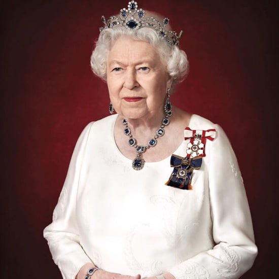 Queen Elizabeth Wears Her Sapphire Jewels For a Portrait