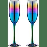 Iridescent Champagne Flute Glasses