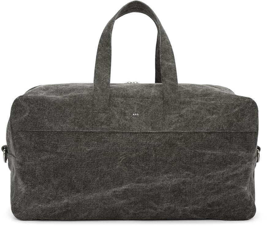 A.P.C. Grey Canvas Xavier Duffle Bag ($370)