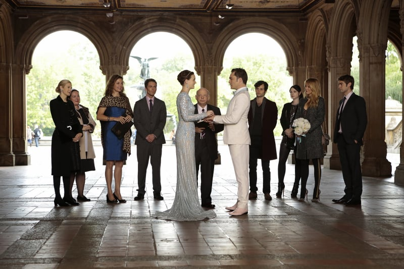 Kelly Rutherford as Lily, Zuzanna Szadkowski as Dorota, Margaret Colin as Eleanor, Desmond Harrington as Jack, Leighton Meester as Blair, Wallace Shawn as Cyrus, Ed Westwick as Chuck, Penn Badgley as Dan, Michelle Trachtenberg as Georgina, Blake Lively as Serena, and Chace Crawford as Nate on Gossip Girl.