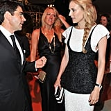Diane Kruger in black and white at Venice Film Festival opening dinner.