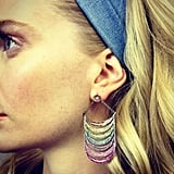 Poppy Delevingne discovered a new favorite pair of earrings. Source: Twitter User DelevingnePoppy