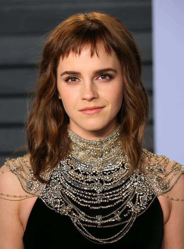 Emma Watson Bob Haircuts With Bangs 2018 Popsugar Beauty