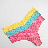 A tribal-inspired take in rainbow hues we want to snap up now.  Commando Crochet-Print Thong ($22)