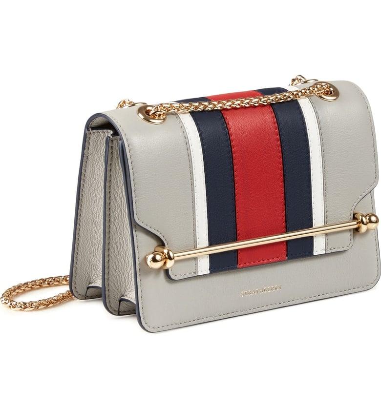 Strathberry Mini East/West Stripe Leather Crossbody Bag