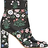 Valentino Floral-Print Paneled Boots ($1,495)