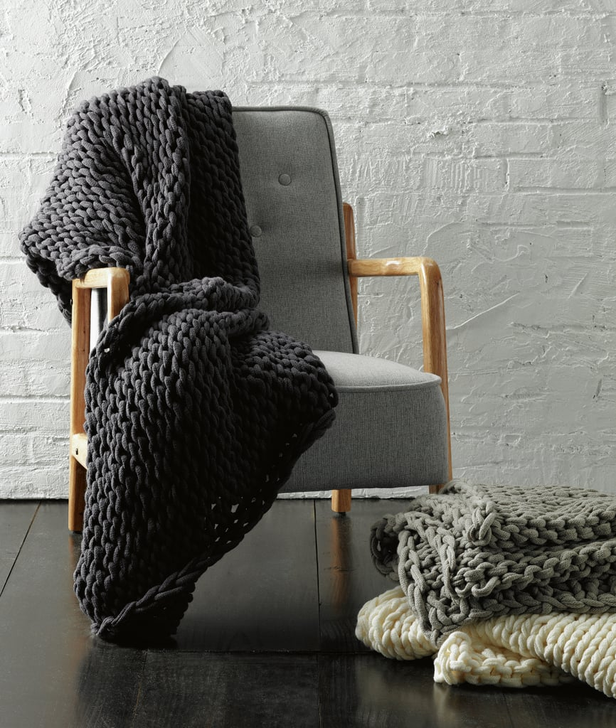 Chunky Knit Throw, $59.99
