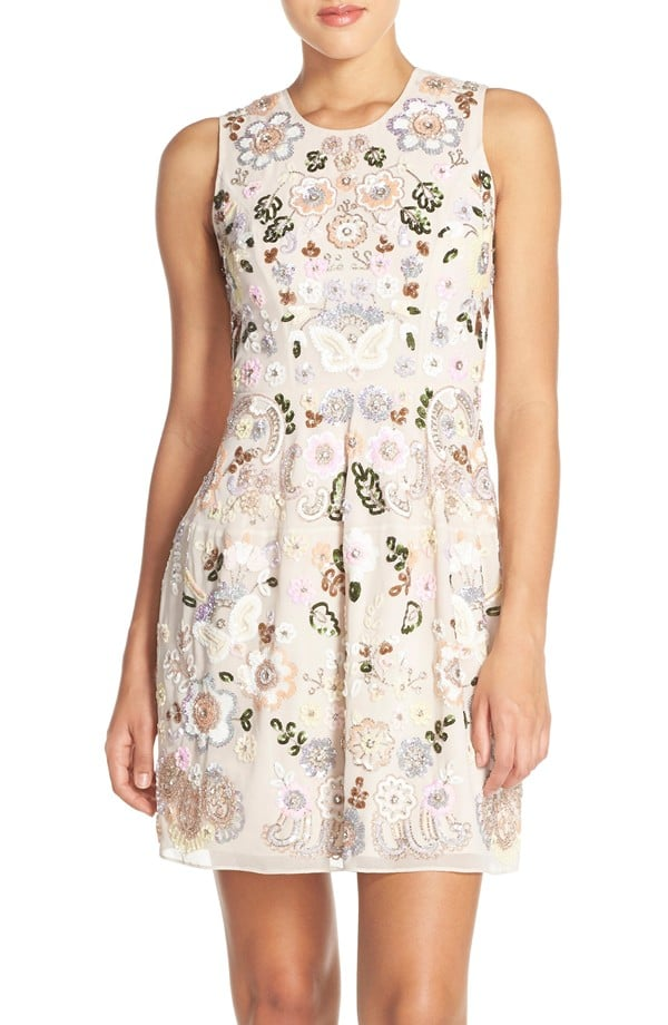 Needle & Thread Floral Embellished Fit & Flare Dress ($569)
