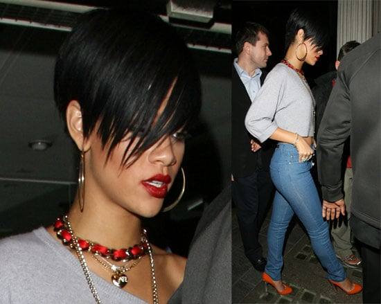 Rihanna Leaving Paper in London on March 9, 2008