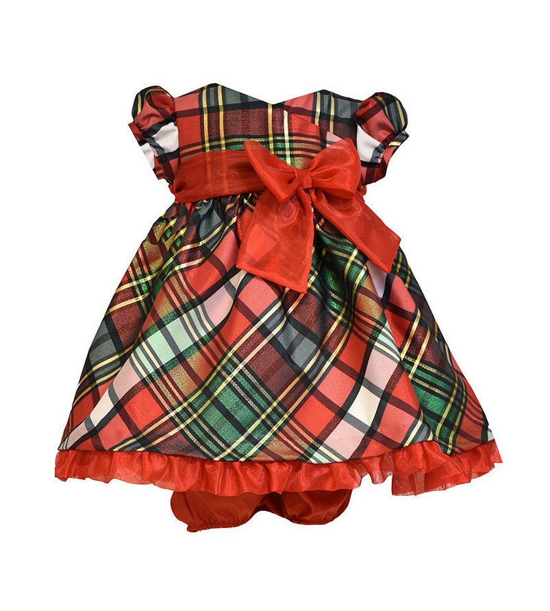 Bonnie Baby Christmas Plaid Dress