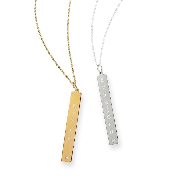 While we'll always have a soft spot for statement pieces, dainty necklaces were made for everyday wear. You're able to add your own monogram to this Sarah Chloe necklace  ($178), meaning it's perfect for initials or a silly saying.