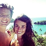 Lea and Jonathan were all smiles in Mexico.  Source: Instagram user msleamichele