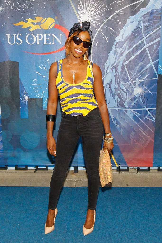 Singer Estelle stepped out for the US Open in NYC.