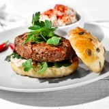 Turkish-Style Lamb Burger With Spiced Eggplant