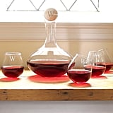Tipsy Monogram Wine Decanter and Stemless Glass Set