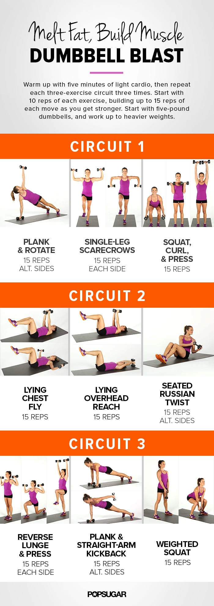 full body dumbbell workout popsugar fitness australia