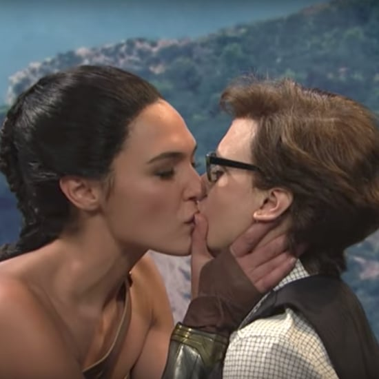 Gal Gadot and Kate McKinnon Kiss on SNL
