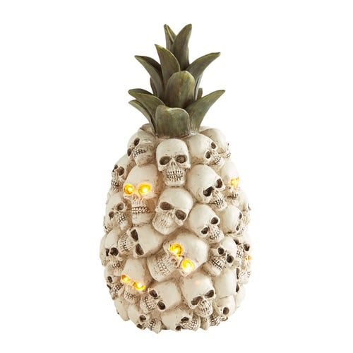 LED Light-Up Pineapple of Skulls