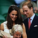 They couldn't hide their smiles at Wimbledon in June 2011.