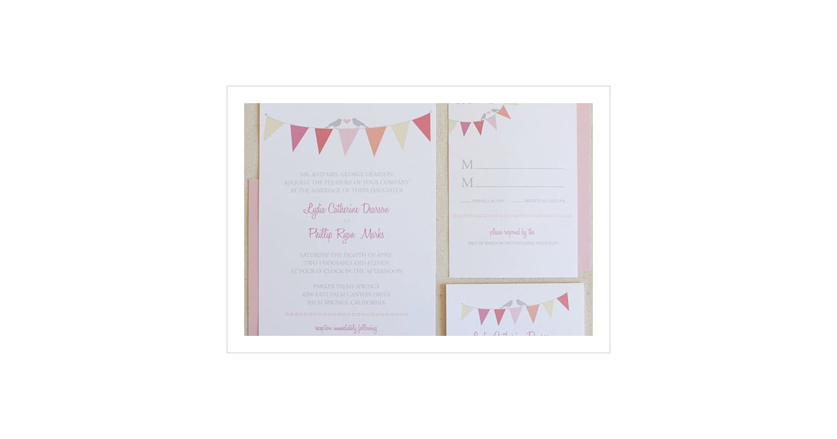 Bunting Wedding Invitation | Free Printable Wedding Invitations ...