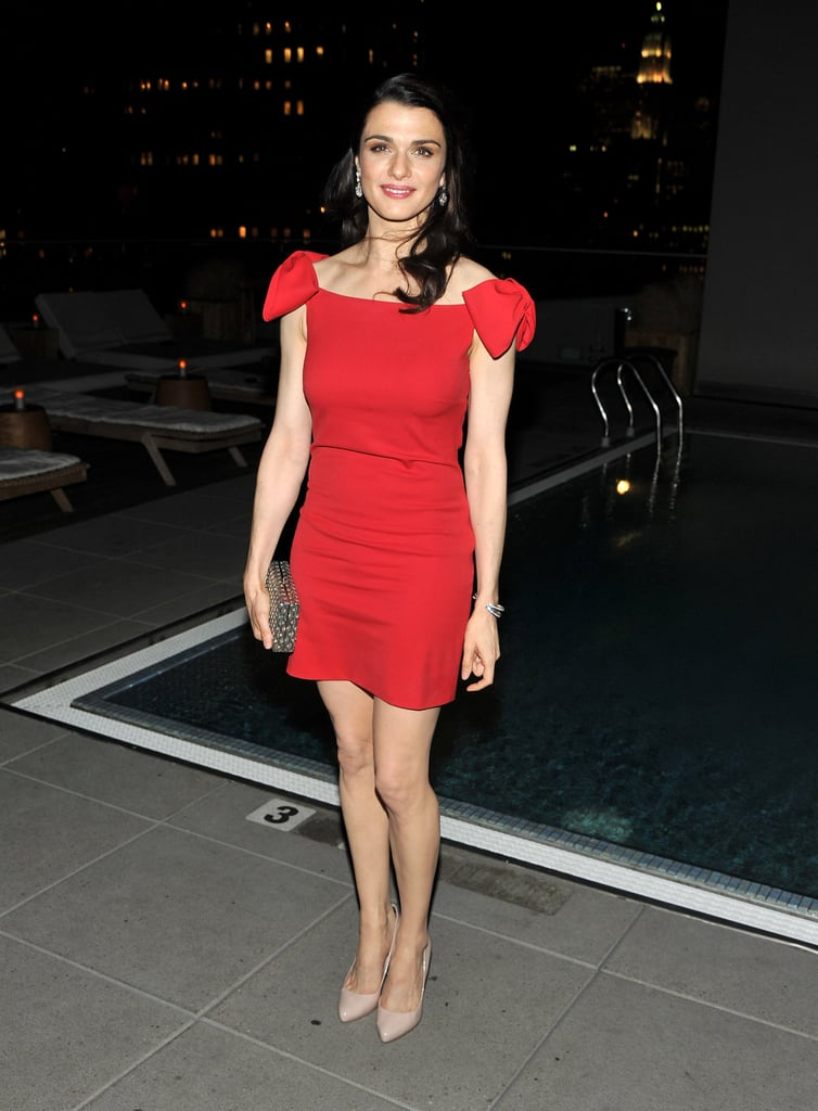 Rachel Weisz parties in NYC.